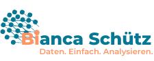 logo, Bianca Schuetz, Daten, Einfach, Analysieren, blau